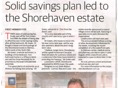 Solid savings plan led to the Shorehaven estate