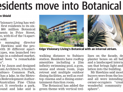 Residents move into Botanical